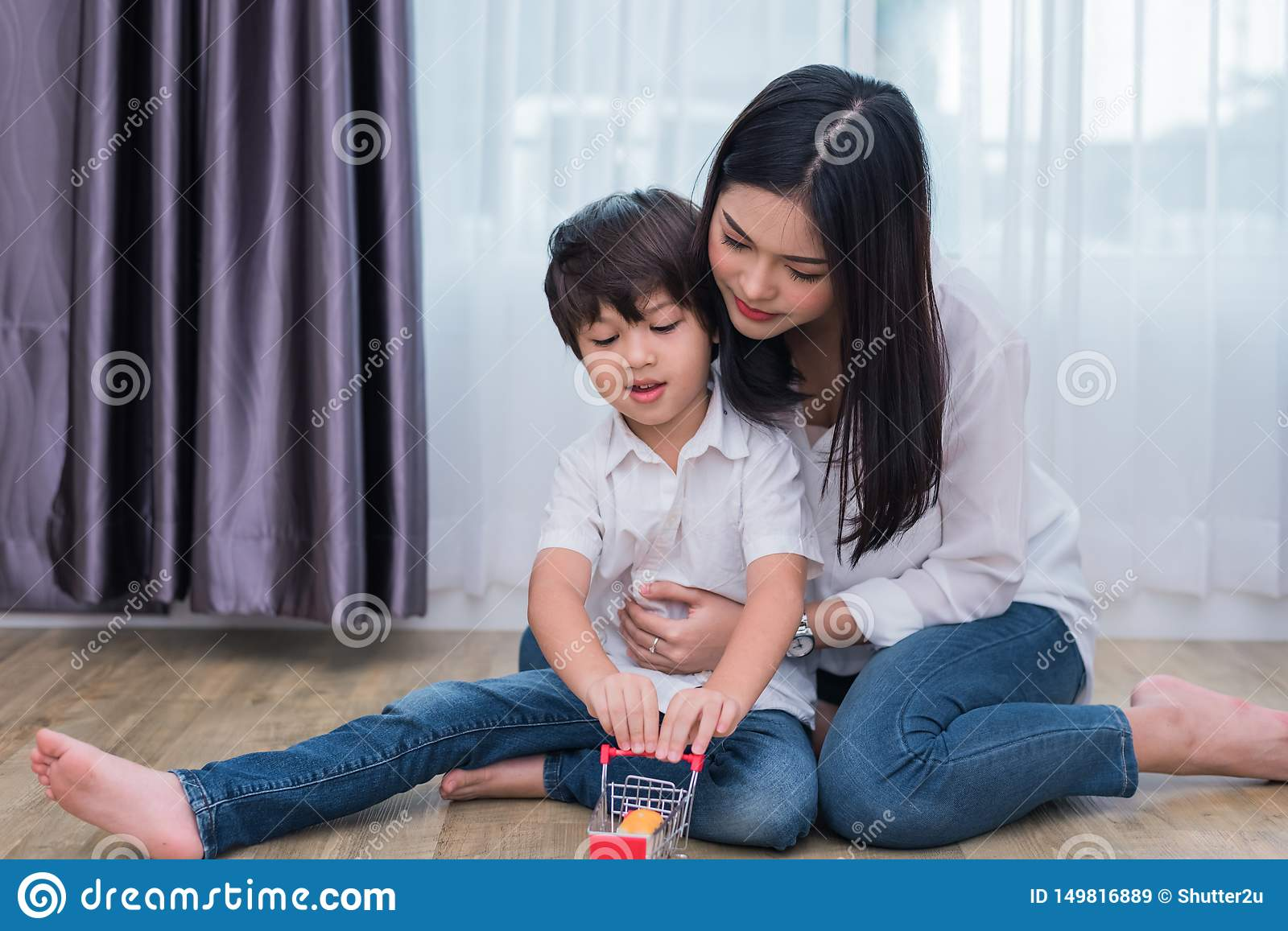 Asian moms and son