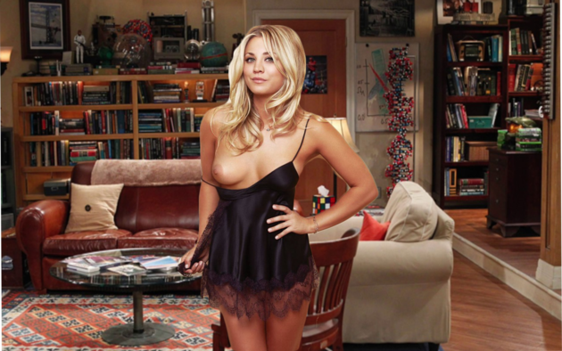 Naked penny from the big bang theory