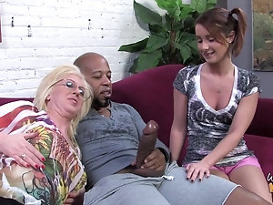 Mature woman loves young black cocks