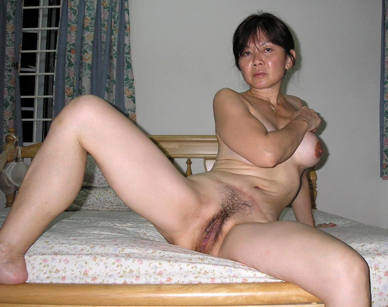 Mature hairy asian pussy